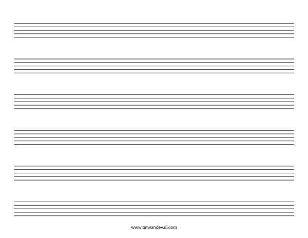 Blank Staff Paper Template blank staff paper template - music paper template