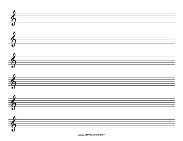 Treble Clef Sheet Music Template Salary Statement Letter From