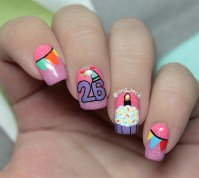 Then and Now - Birthday Nail Art - tina_tech