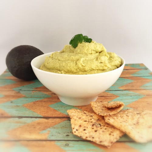 This creamy avocado hummus is full of nutritious ingredients to help you snack healthy like elite runner Tina Muir.