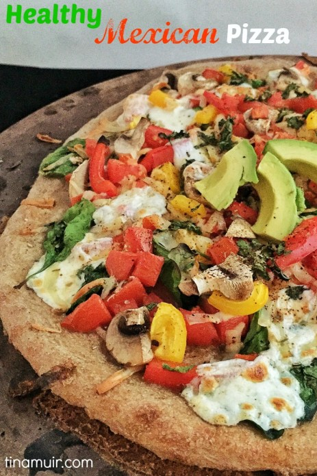 Elite runner Tina Muir shares a healthy, Mexican style pizza to keep you satisfied, while getting in lots of nutrition to fuel your training.