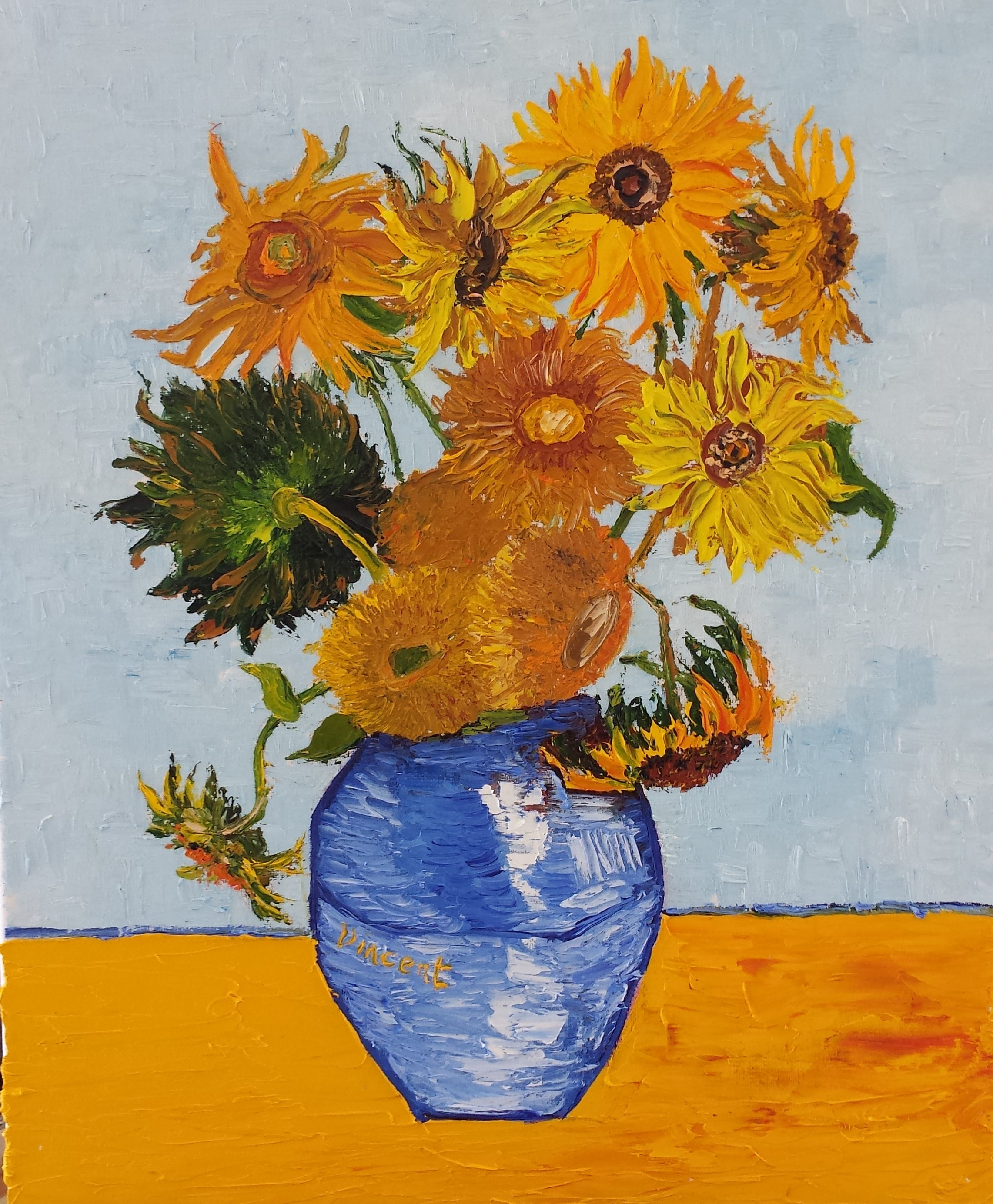 Vincent Van Gogh Paintings Sunflowers Van Gogh Sunflowers Painting Defendbigbird