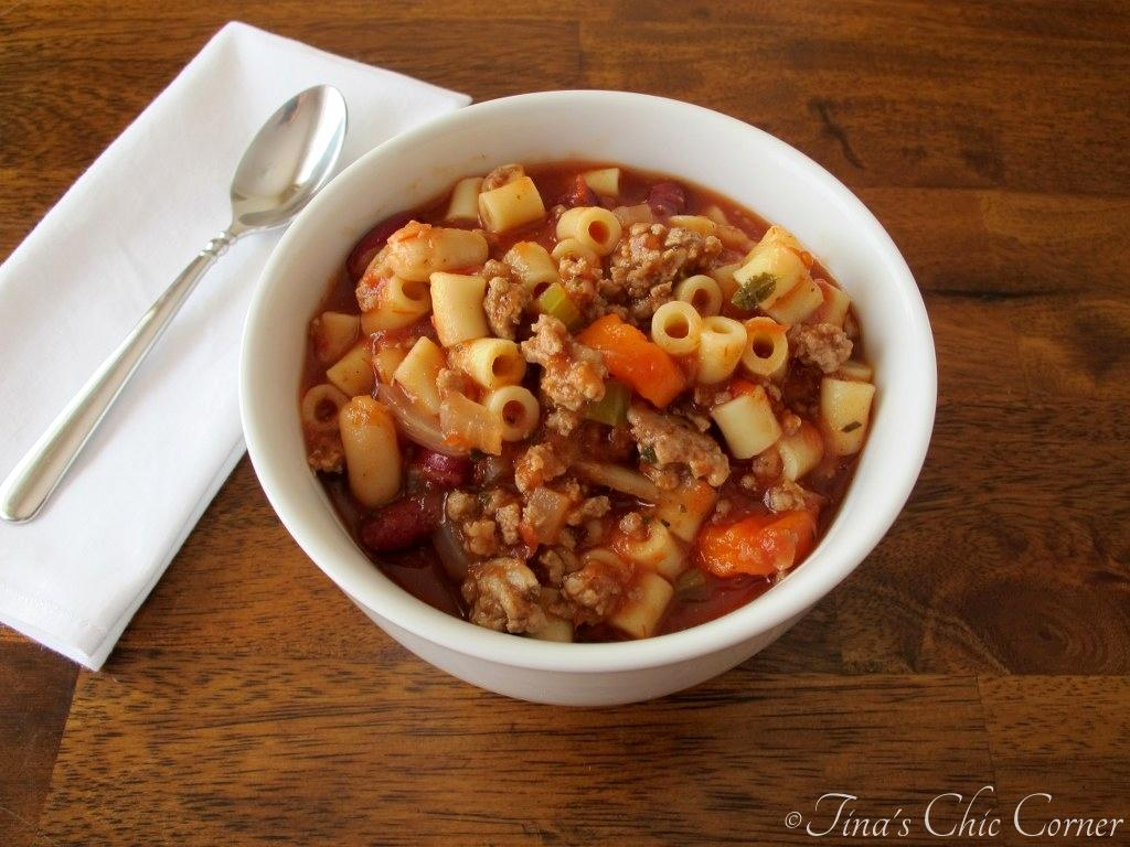 Pasta Fagioli Soup – Tina\'s Chic Corner