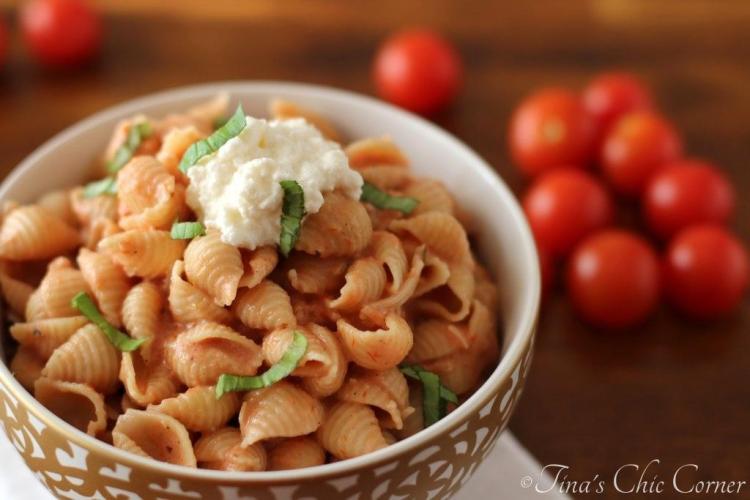 05Pasta With Tomato Cream Sauce