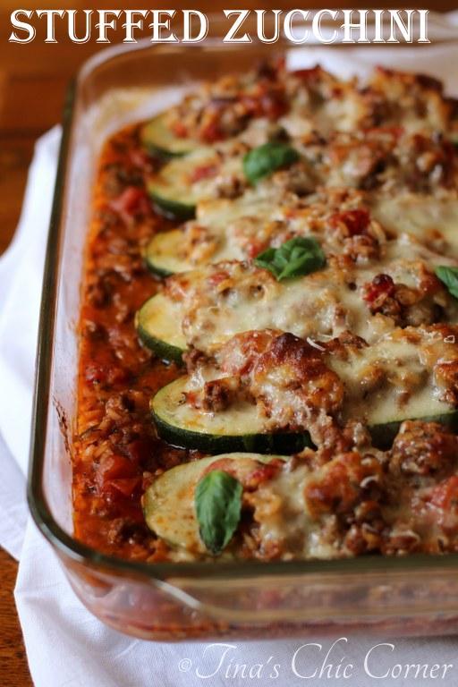 12Stuffed Zucchini