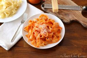 Lighter Roasted Red Pepper Pasta04