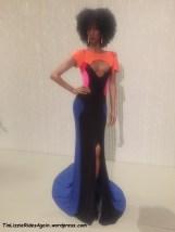 Color block gown