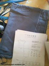 Super simple drapy pattern for this tencel twill