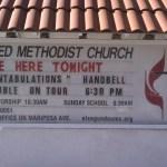 United Methodist sign