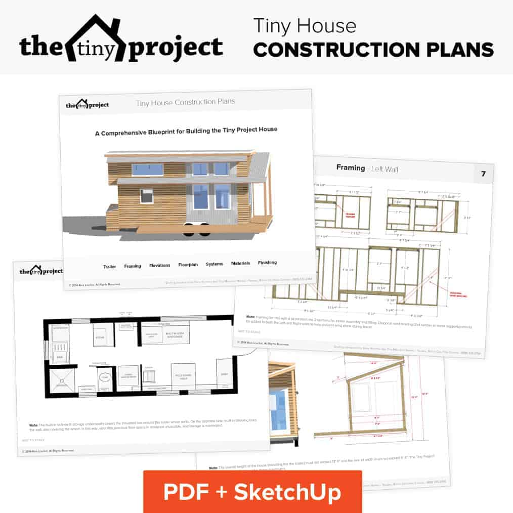 Tiny House With Garage Plans Our Tiny House Floor Plans Construction Pdf Sketchup