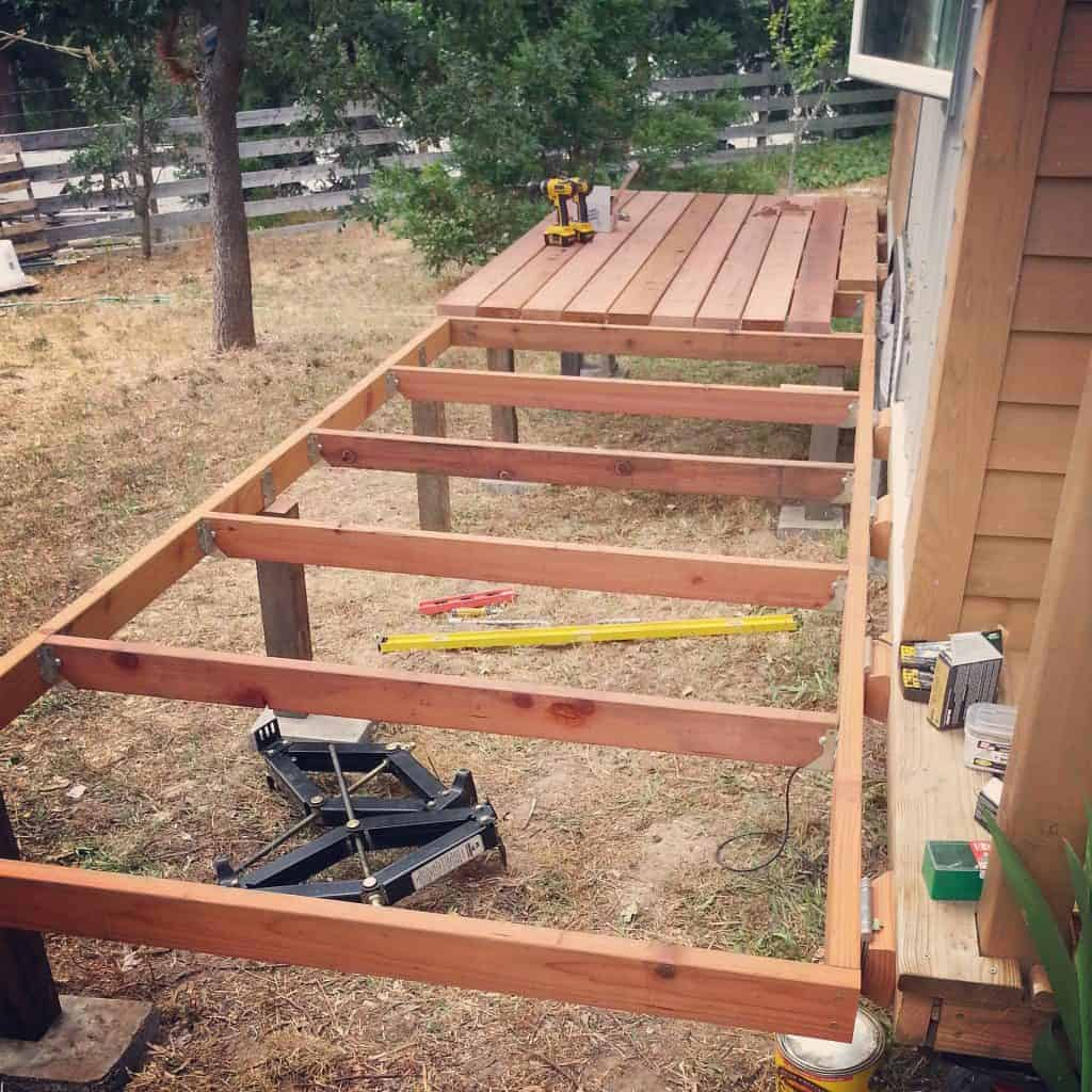 Redwood Deck Tiny House Project