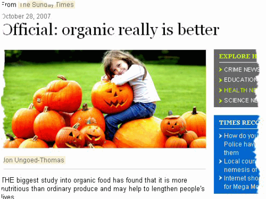 Organic food no better for you: study - The Conversation