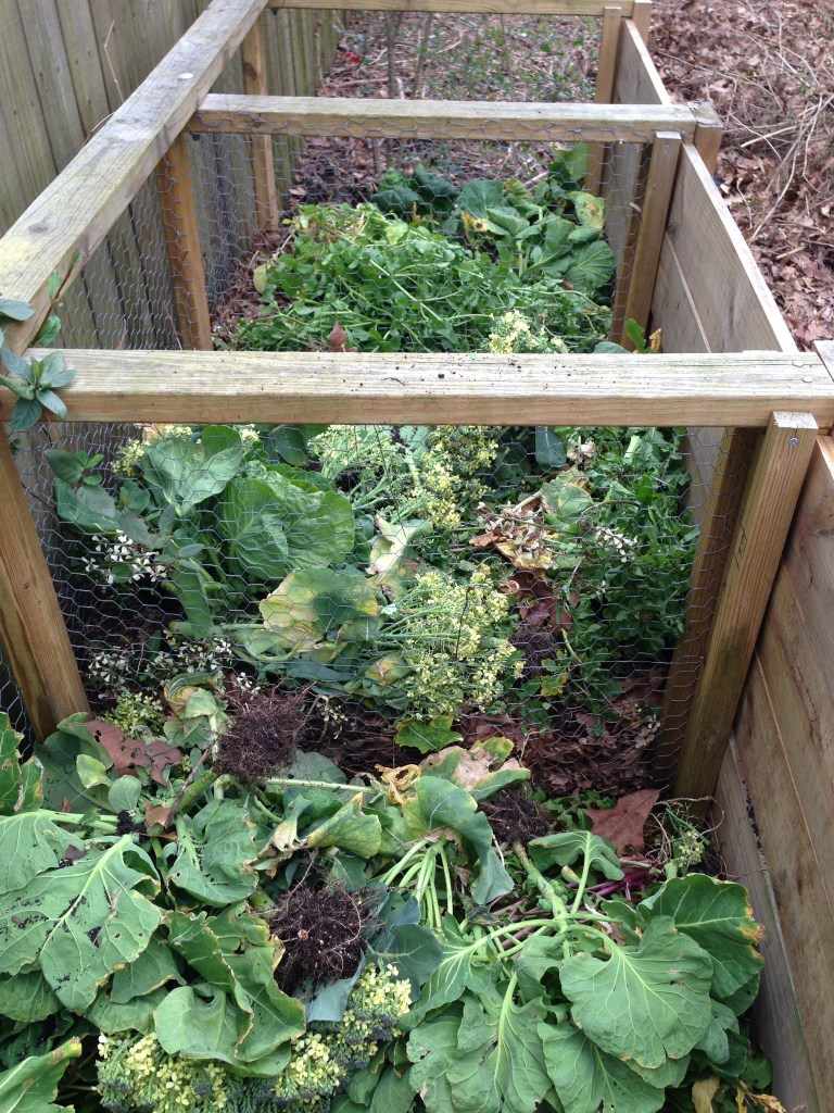 In to the compost bins!