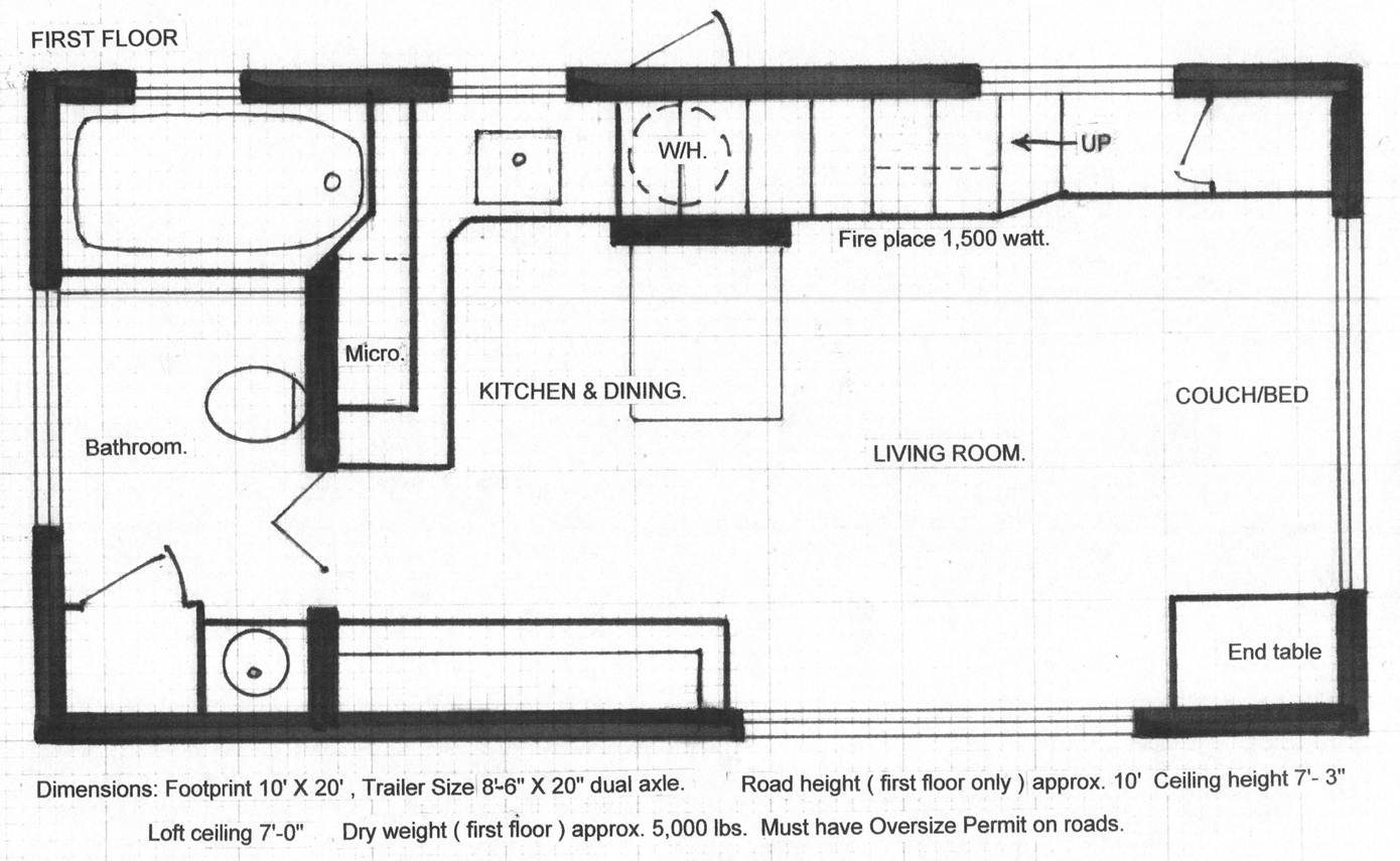 Tiny Home Floorplans Tiny House Chris Heininge Construction