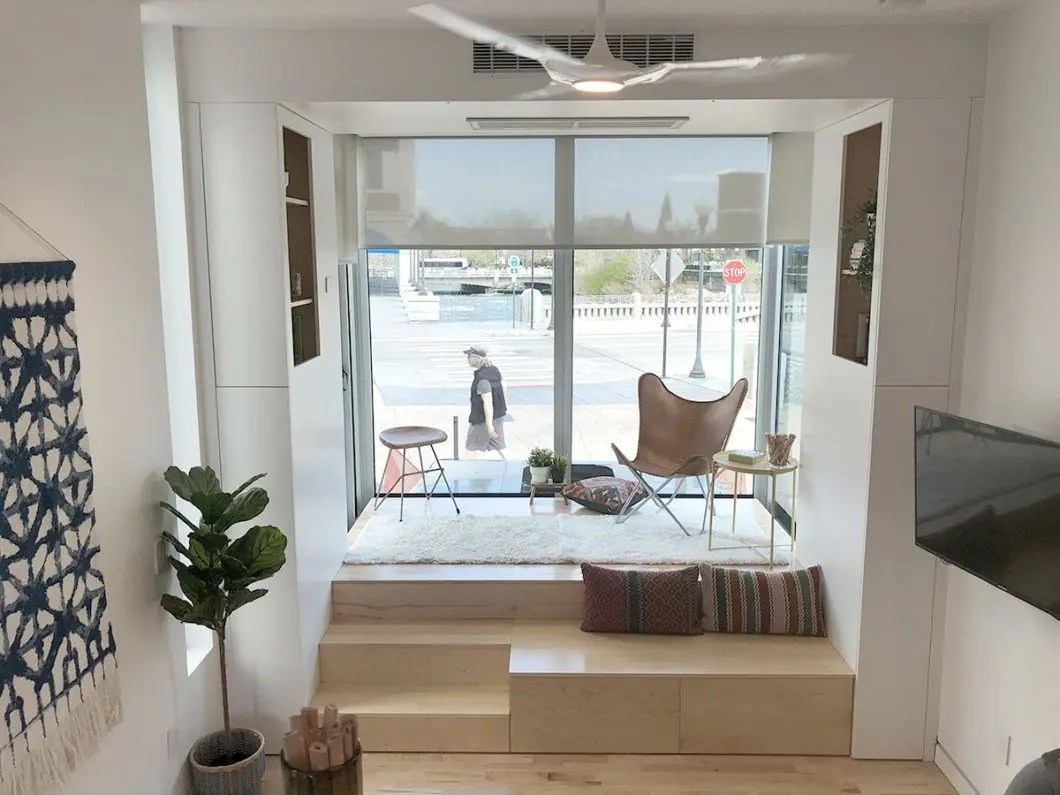 Minimalist Living Space Minimalist Living Maximum Space Tour Of The Kasita Tiny House