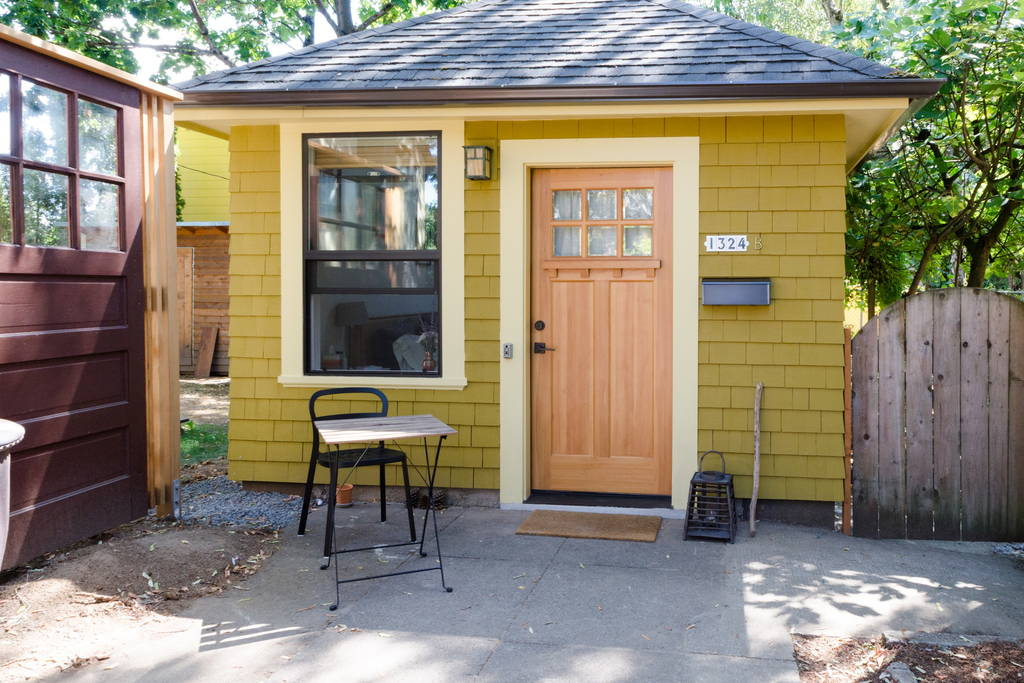 Micro Apartment Portland Garage Tiny House - Tiny House Swoon