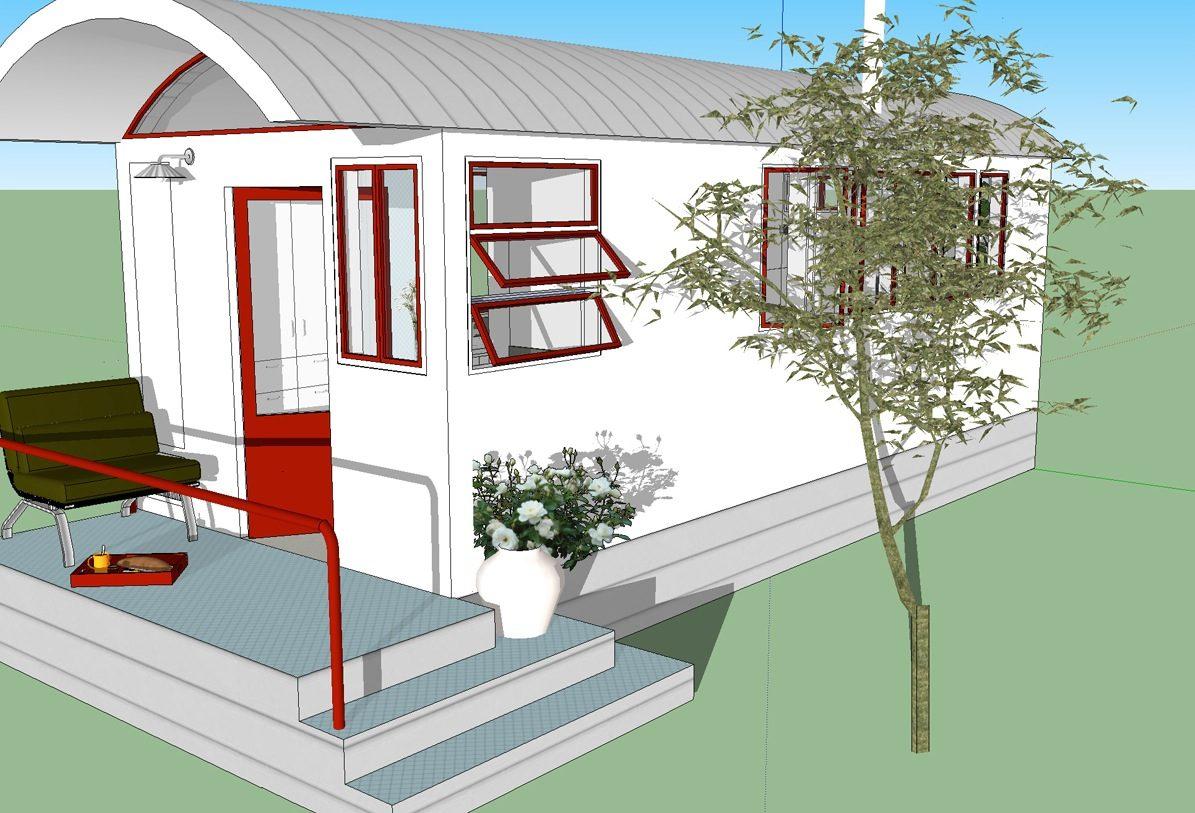 260 sq ft no loft tiny house design