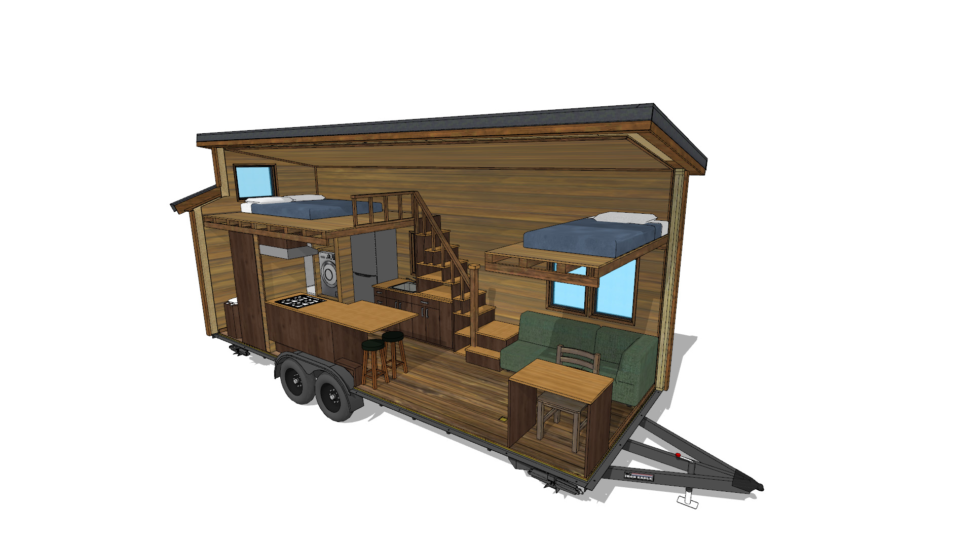 Tiny House Interieur Cider Box Tiny House Plans 40 Off Now With Editable 3d