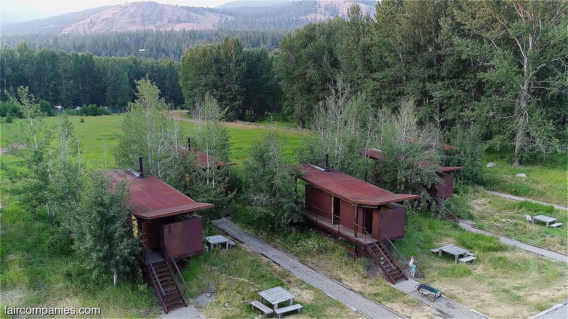 Home Builders Seattle 190 Sq. Ft. Tiny Rolling Hut Cabins In Methow Valley