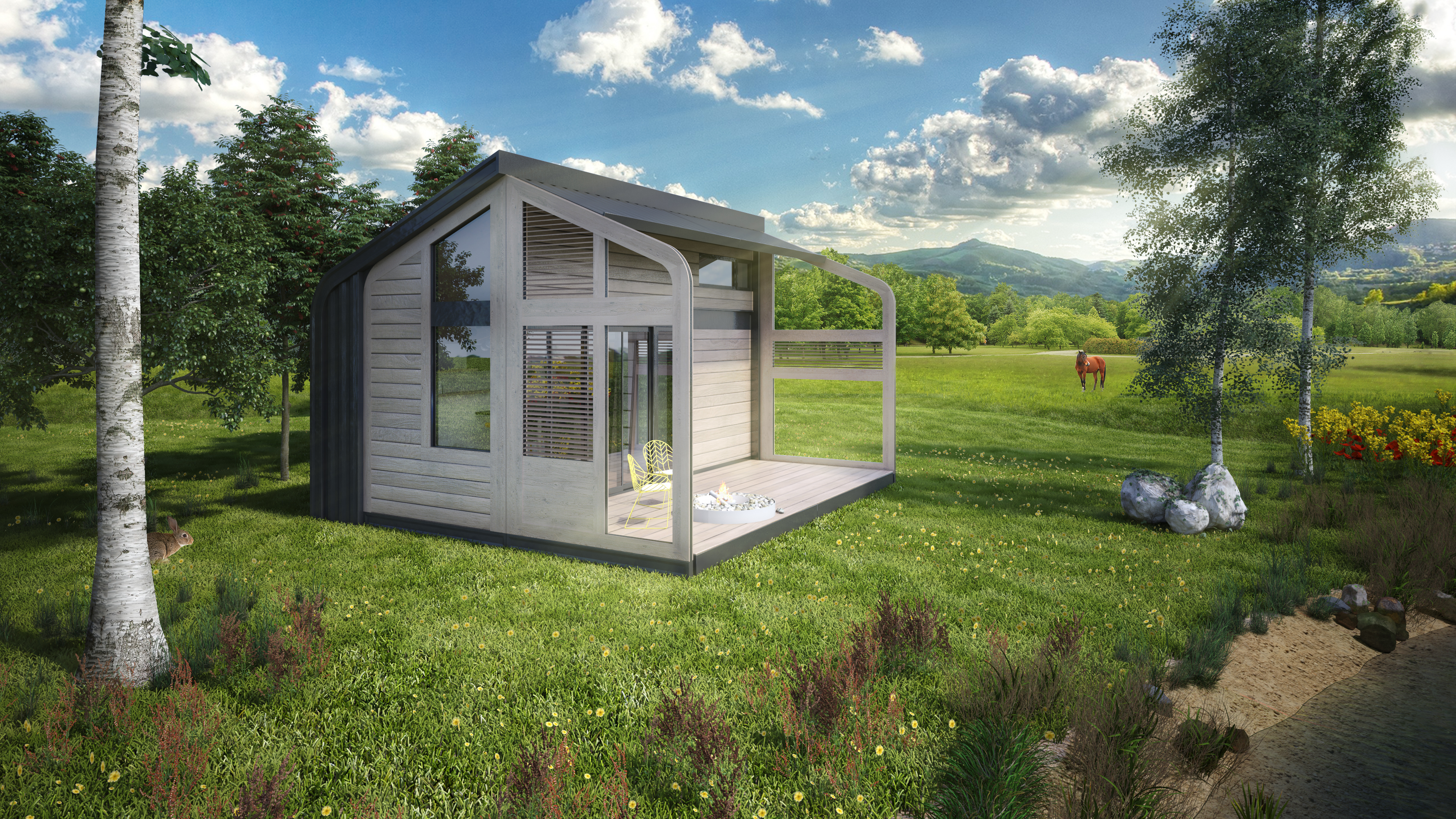 Designing A Small House Salt And Water 39s Portable Tiny House Not On Wheels