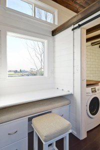 Tiny House on Wheels w/ Big Kitchen and Double Sink Vanity