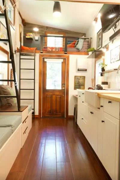 Kitchen Island With Stove And Oven 144 Sq. Ft. Tiny House On Guemes Island, Wa