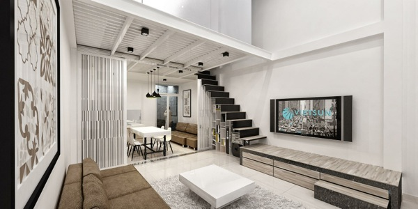 Modern Loft Apartment Concept For Simple Living