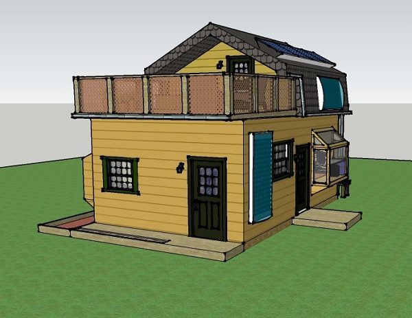 misty u0026 39 s 400 sq ft 16x25 solar off grid small house