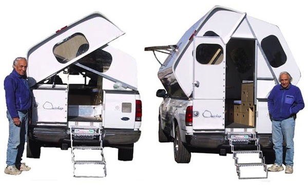 Couches You Sink Into Transforming Truck Camper Expands & Contracts