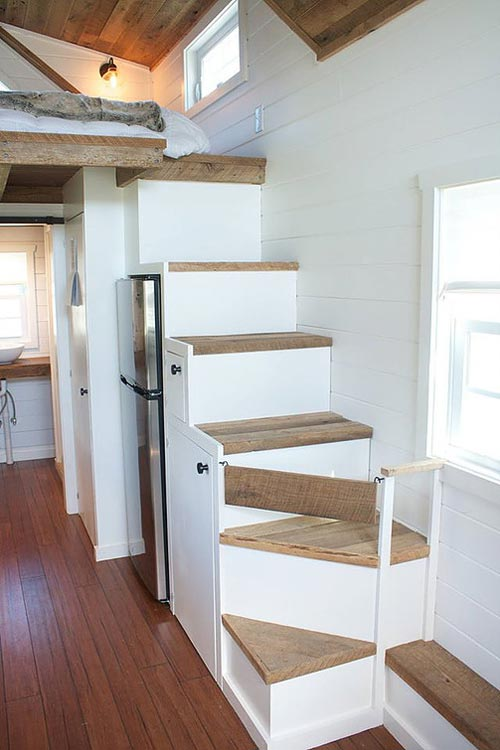 White Concrete Countertop Modern Farmhouse By Liberation Tiny Homes - Tiny Living