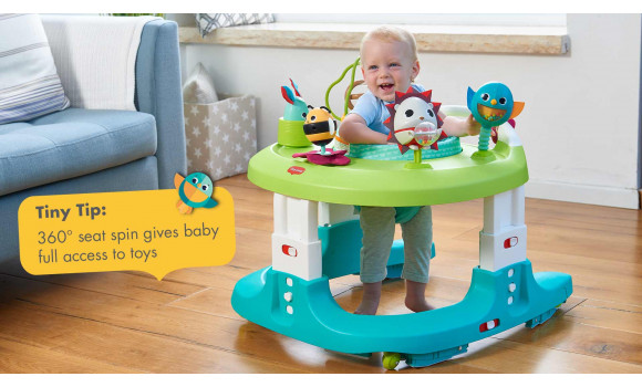 Infant Toddler Mirror 4 In 1 Here I Grow Baby Activity Center And Walker