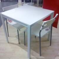 Ikea Table and 2 Chairs Set White Dining Kitchen Modern ...