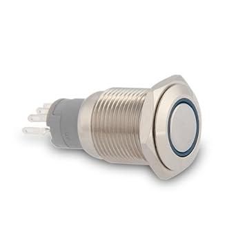 Drucktaster Taster Klingeltaster Klingelknopf Schalter Blau Led 3A - badezimmer spiegelschr amp atilde amp curren nke mit beleuchtung nice look