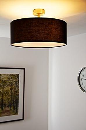 ... Deckenlampe Mit Schwarzem Stoffschirm 40 Cm Durchmesser   Us88    Badezimmer T L Amp Ouml Sung ...