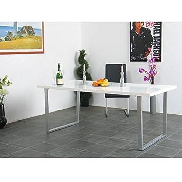 Esstisch TORONTO Esszimmertisch Küchentisch Speisetisch Tisch weiß - k amp atilde amp frac14 chenr amp atilde amp frac14 ckw amp atilde amp curren nde aus glas