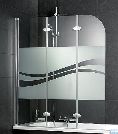 ... Schulte Badewannenaufsatz 3 Teilig D3354, Echtglas Klar   Badezimmerspiegel  3 T Amp Uuml Rig ...