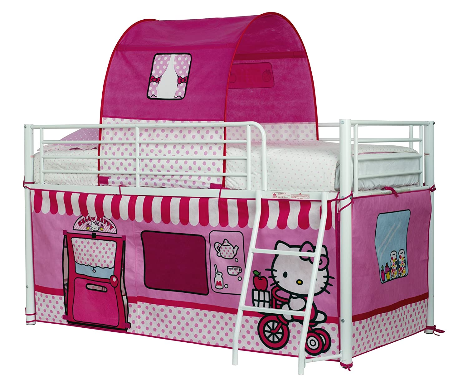 Hello Kitty Zelt Worlds Apart 490hek01 Hello Kitty Hochbett Vorhang Set