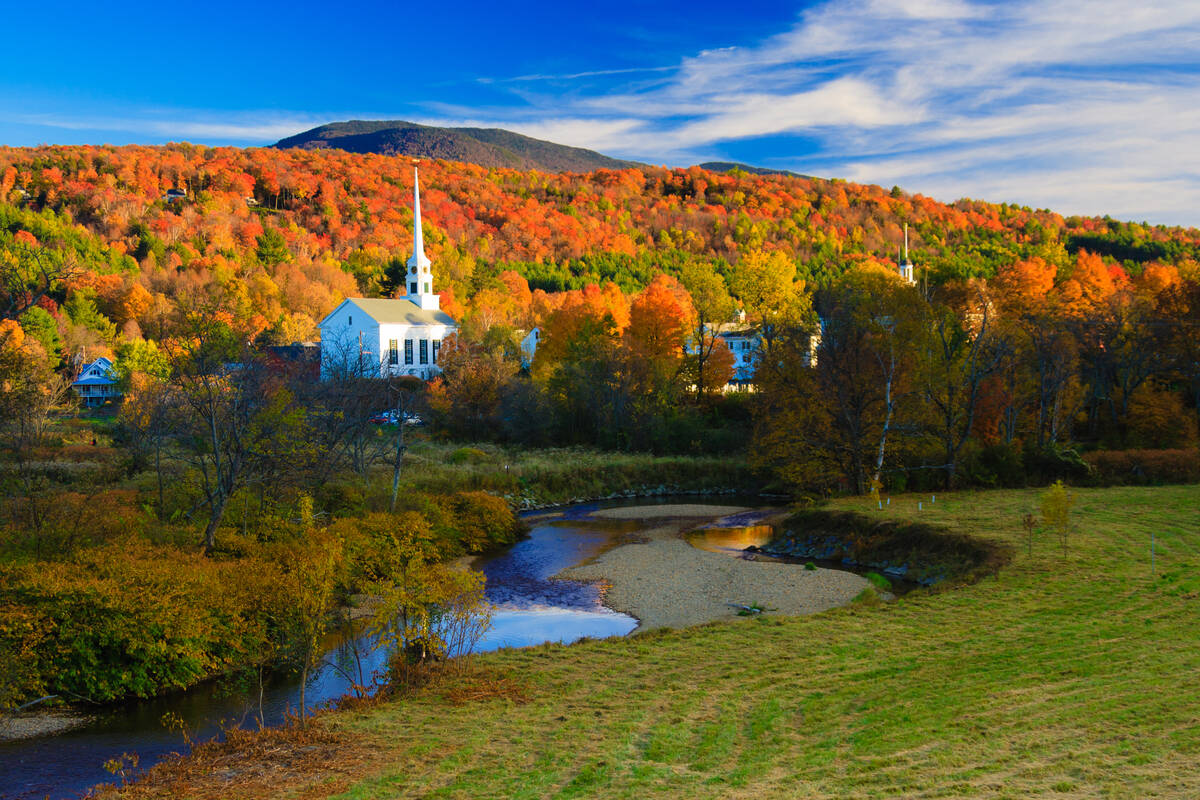 Fall Colors Wallpaper New England Bezienswaardigheden Stowe Vermont Tioga Tours