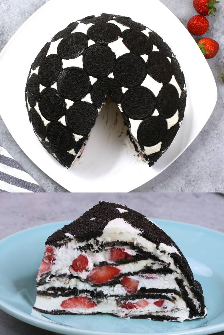 No Bake Oreo Kuchen Easy Upside Down Oreo Cake With Video
