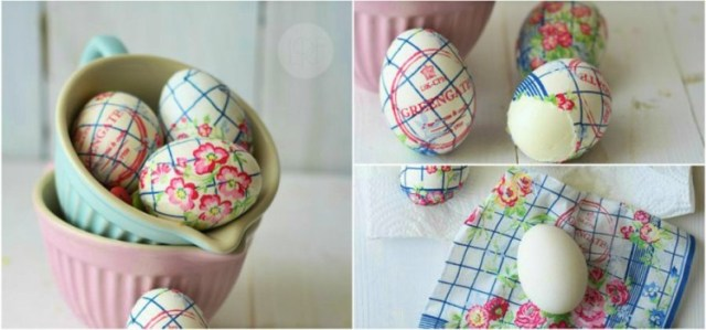 Napkin Eggs Collage