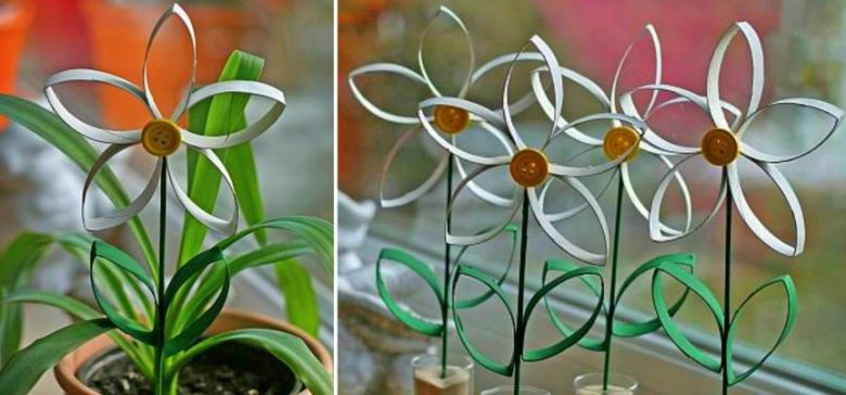 Toilet Paper Tube Flowers Collage