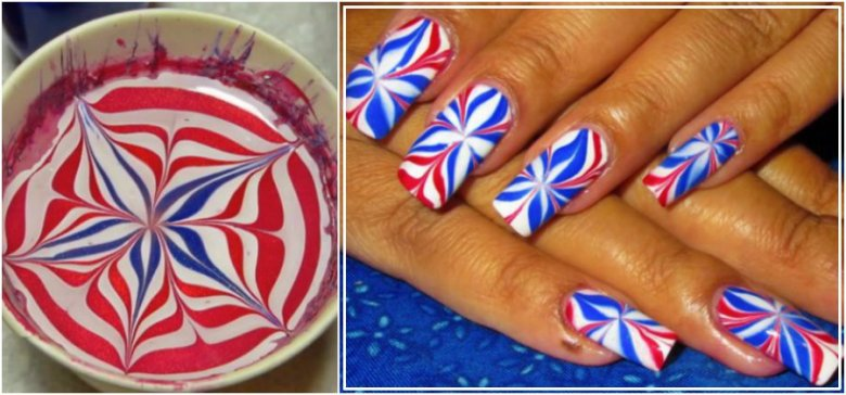 nails burst red white