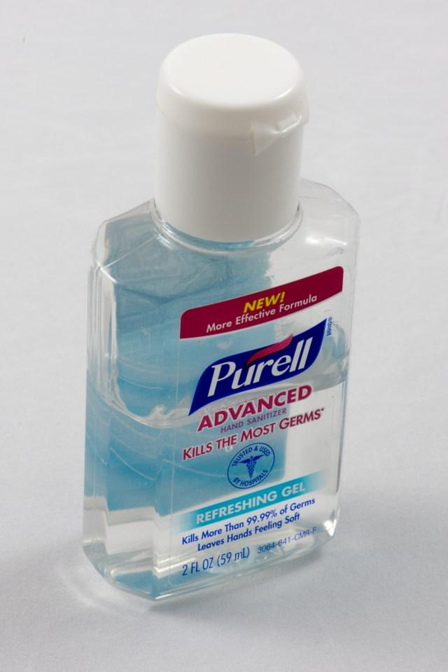 Purell hand sanitizer gel in bottle