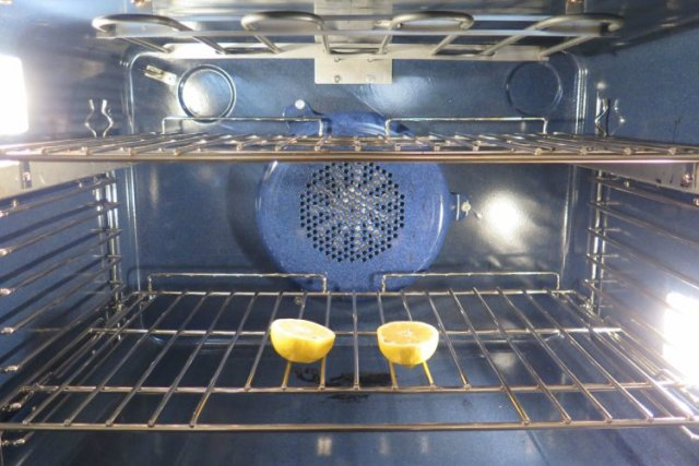 how to clean top of oven