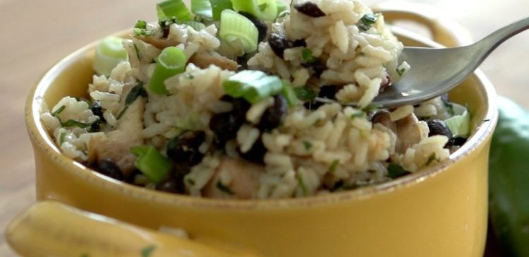 One Pan Chicken Lime Rice Beans