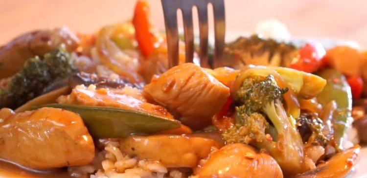 Spicy Chicken Stirfy