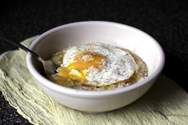 Bacon Egg Leek Risoto
