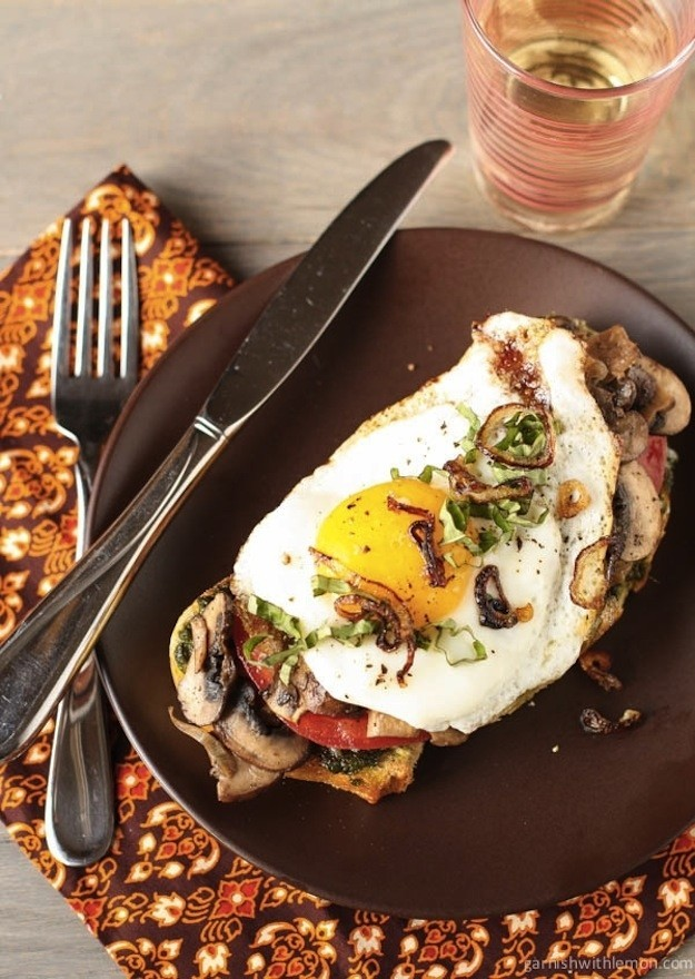 Egg and Mushroom Sandwich