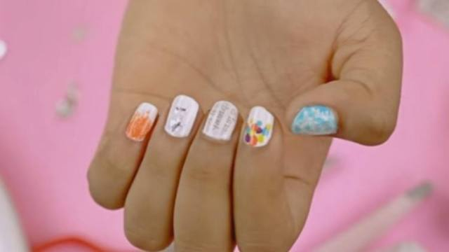 5 nail art designs made with common household items