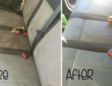 Clean car upholstery at home